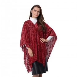 Wine Leaf Pattern Poncho