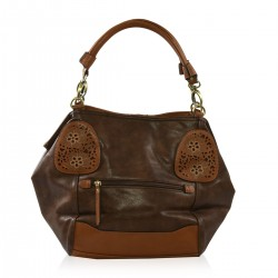 Marc Chantal Brown Faux Leather Handbag