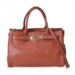 Brown 100% Genuine Leather Handbag