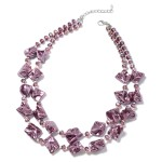 Purple Shell Pearl and Beaded Necklace
