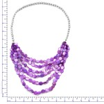 Purple Shell Bead Drape Necklace