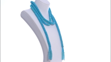 Turquoise Blue Beaded Scarf Necklace